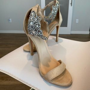 Lola Shoetique Nude Jeweled Sandals